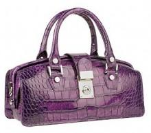 L.A.P.A. Violet Croco-embossed Mini Doctor Bag