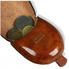 Pelletterie Fiorentine Cherry Leather Coin Purse