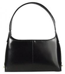 Fontanelli Classy Black Italian Leather Handbag